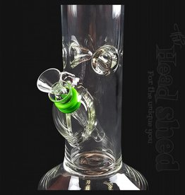 "King Volcano King Volcano - 12"" Grommet With Straight Clear Base Waterpipe"