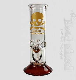"King Volcano King Volcano - 8"" Grommet With Straight Color Base Waterpipe"