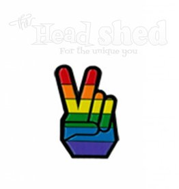 Yujean - Pride Peace Fingers Hat Pin