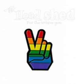 Yujean - Pride Peace Fingers Hat Pin