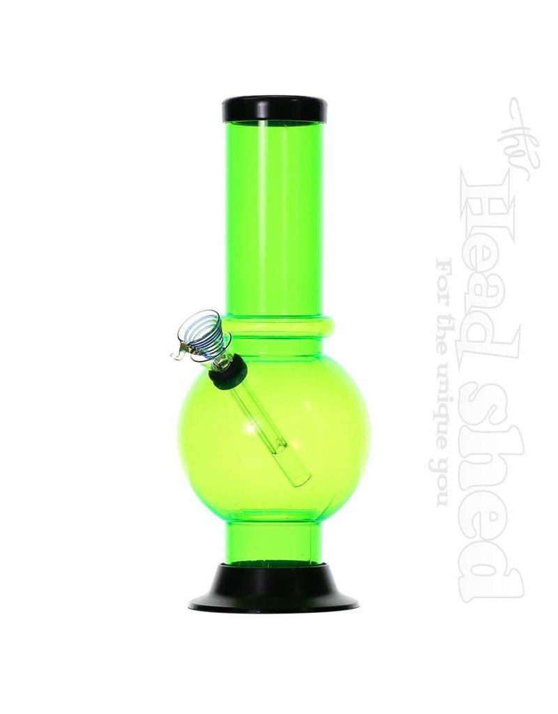 """Asst. Acrylic Waterpipe - 10"""" x 2"""" w/ Glass Slide"""
