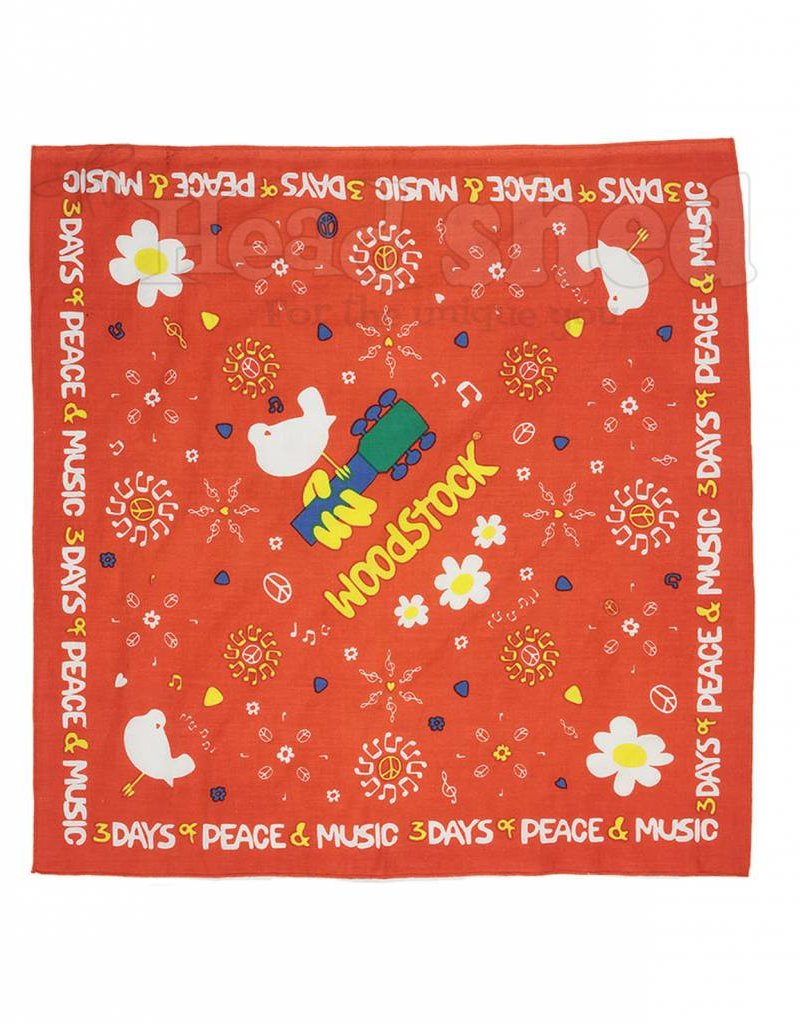 Bandana Woodstock Peace Flower