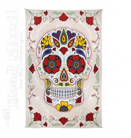 "Sunshine Joy - 3D Tapestry (60X90"") - Sugar Skull White"