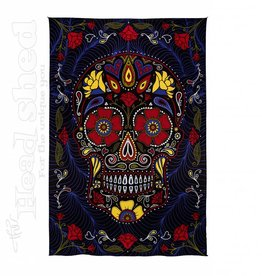 "Sunshine Joy - 3D Tapestry (60X90"") - Sugar Skull Black"