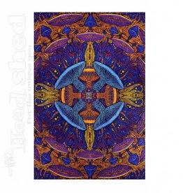 "Sunshine Joy - 3D Tapestry (60X90"") - Mushroom"
