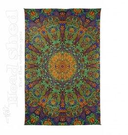 """Sunshine Joy - 3D Tapestry (60X90"""") - Green Sunburst"""