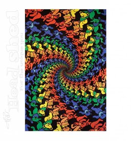 "Sunshine Joy - 3D Tapestry (60X90"") - GD Spiral Bears"