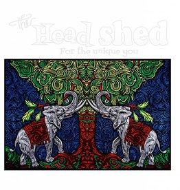"Sunshine Joy - 3D Tapestry (60X90"") - Elephant Tree"