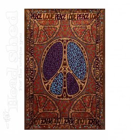 "Sunshine Joy - 3D Tapestry (60X90"") - 60's MOD Love Peace"