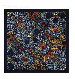 Sunshine Joy - Bandana - 3D Skull Black