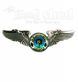 Sunshine Joy - Hat Pin - GD Wing Skull & Roses