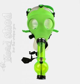 Glow-in-the-Dark Gas Mask w/ Acrylic Water Pipe