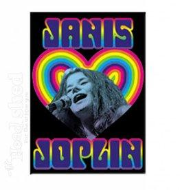 Janis Joplin Heart Magnet