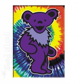 Grateful Dead Purple Bear On Tie Dye - Magnet
