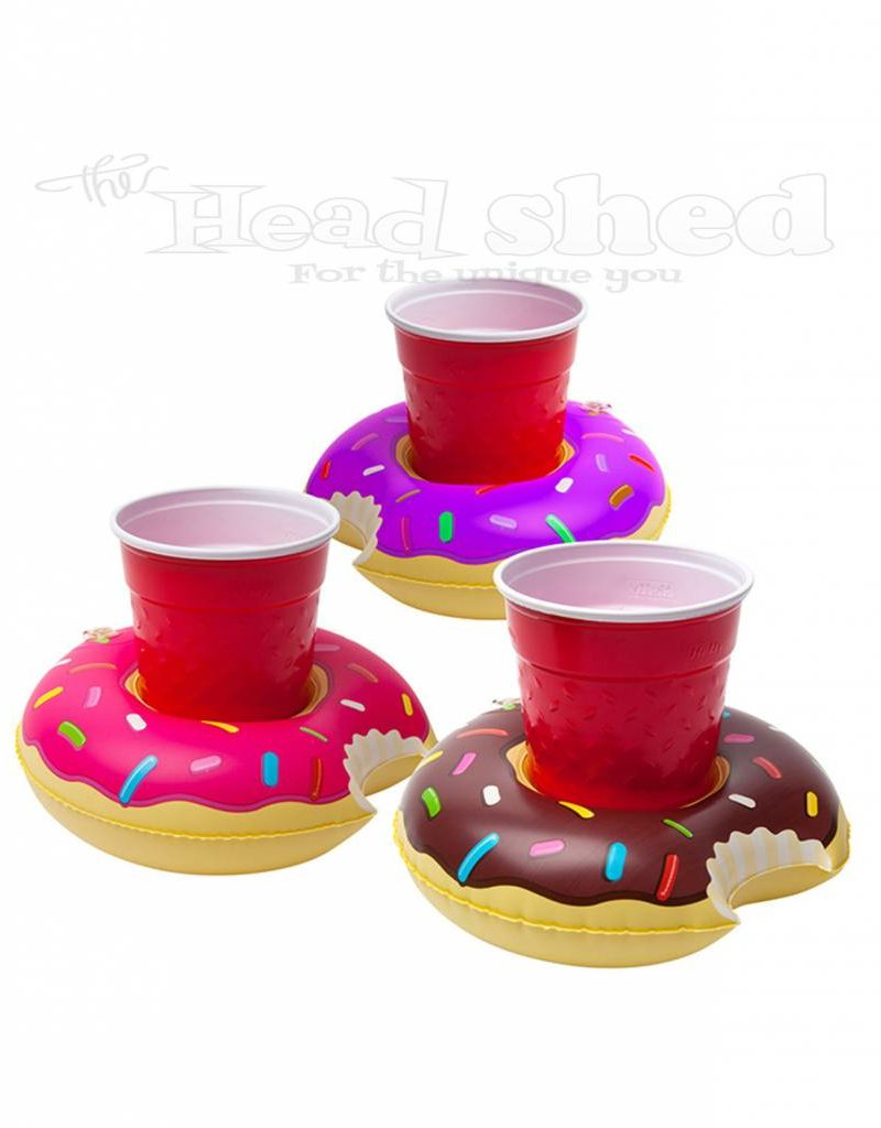 3pc Frosted Donut Beverage Boats