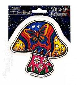 Butterfly Mushroom Sticker