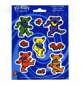 Grateful Dead Dancing Bears & Roses Sticker Sheet