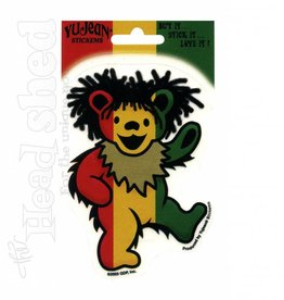 Rasta Grateful Dead Dancing Bear Sticker
