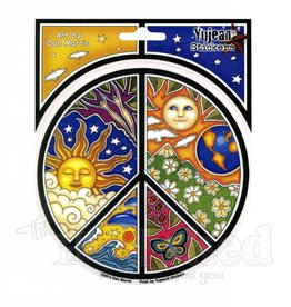 Peace Night & Day Sky Sticker