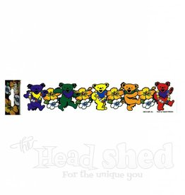 Grateful Dead Dancing Bear Strip w/ Flowers Sticker