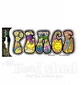 Peace Script Design Sticker