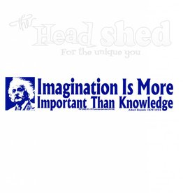 Imagination Is More Important Sticker