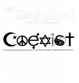 White Coexist Decal Sticker