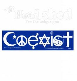 Blue Coexist Sticker