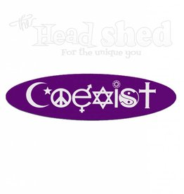 Coexist Oval Sticker
