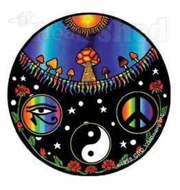 Ra, Yin Yang, Peace Sticker