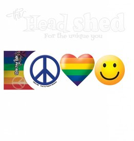 Peace, Love, & Pride Sticker