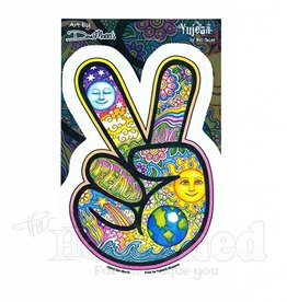 Peace Fingers Sky Sticker