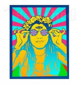 Hippie Chick Sticker