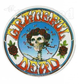 Grateful Dead Skull & Roses Circle Sticker