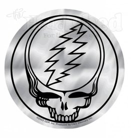 Silver Steal Your Face Sticker