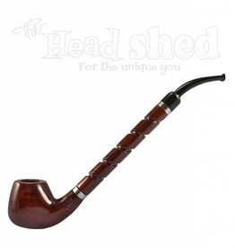 "Shire Pipes Shire Pipe 10.5"" Bent Brandy Rosewood w/ Spiral Carved Stem"