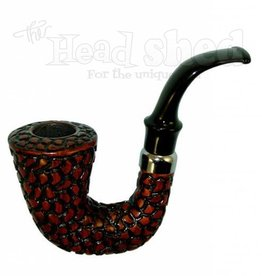 "Shire Pipes Shire Pipe 5"" Carved Hungarian Calabash Rosewood"