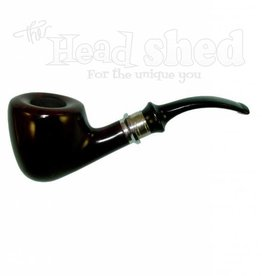 """Shire Pipes Shire Pipe 5.5"""" Half Bent Dublin Wood w/ Saddle Stem"""