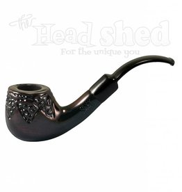 "Shire Pipes Shire Pipe 5.5"" Engraved Bent Apple Rosewood"