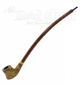 "Shire Pipes Shire Pipe 15"" Curved Cherrywood Patterned Rosewood"