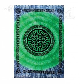Tie Dye Triquetra Tapestry