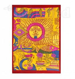 Geometric Sun Design Tapestry