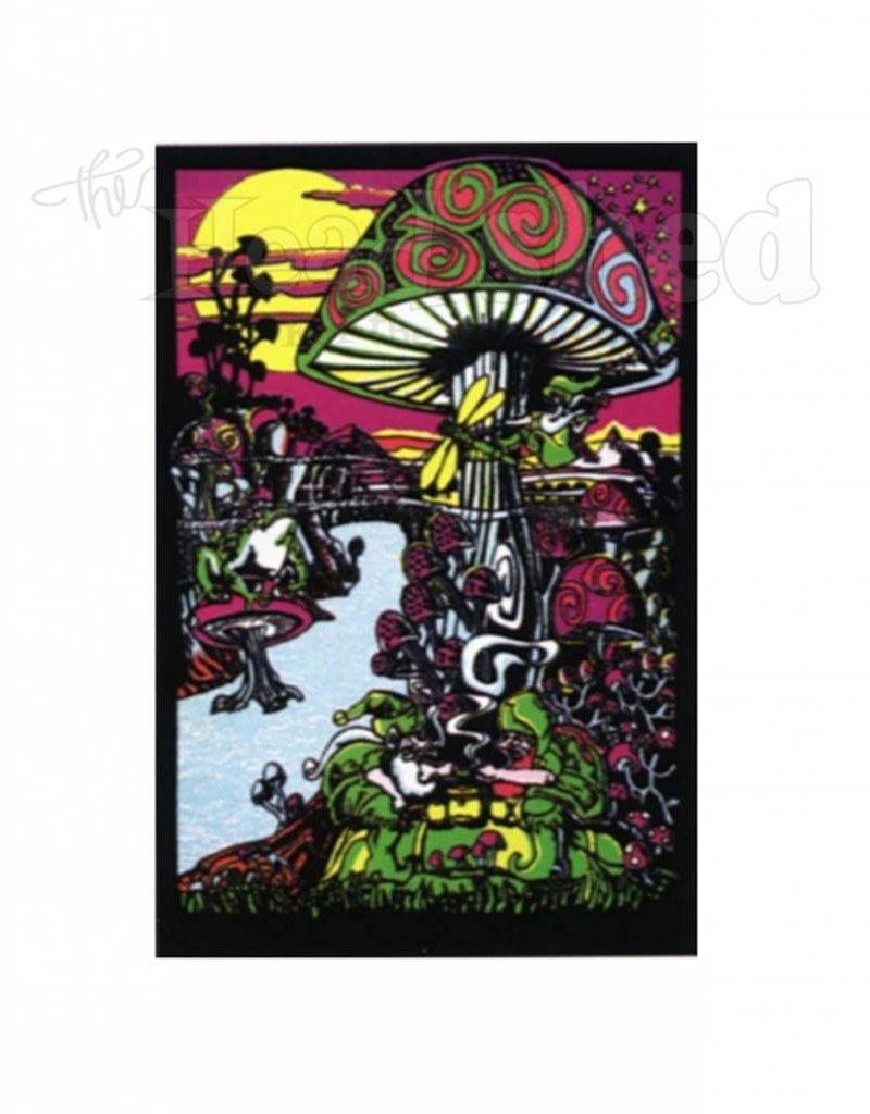 Black Light Poster - Mushroom