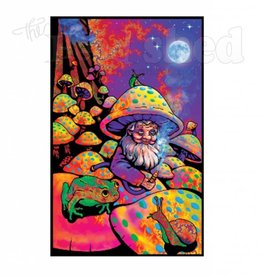 Black Light Poster - Mushroom Man