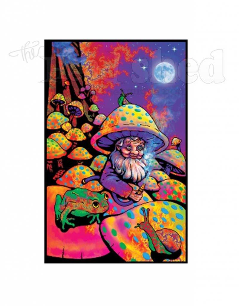 Black Light Poster - Mushroom Man