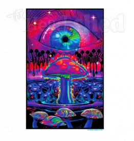 Black Light Poster - Mushrooms