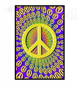 Black Light Poster - Peace Optical Illusion