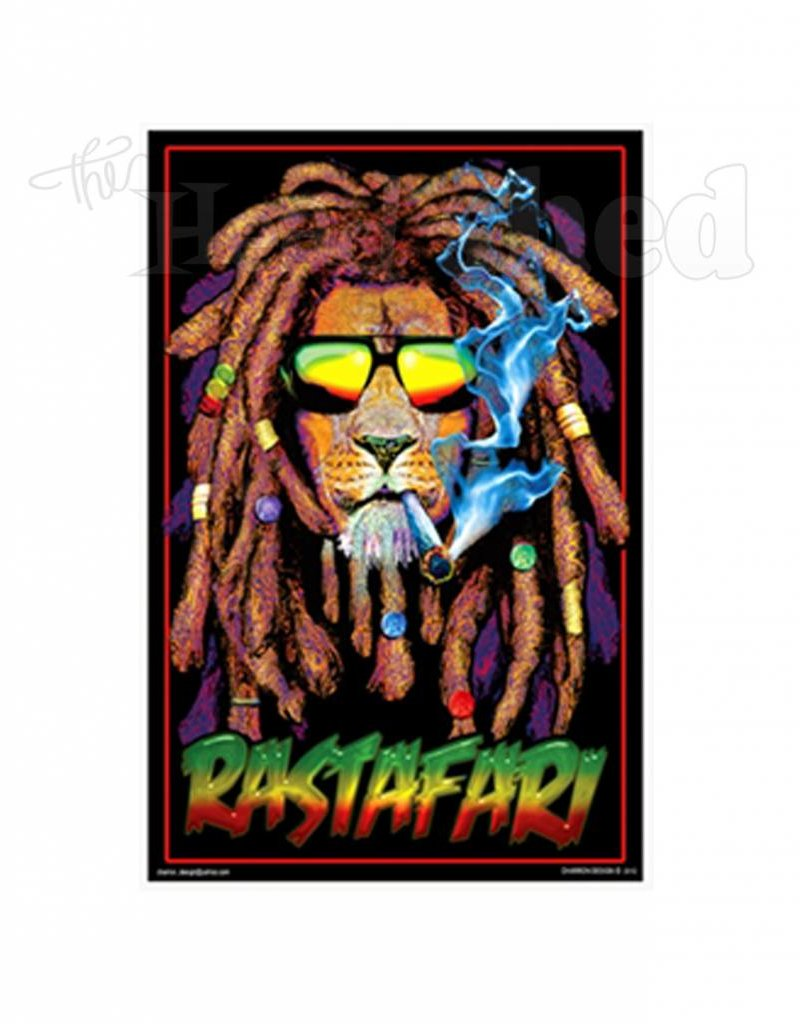 Black Light Poster - Rastafari