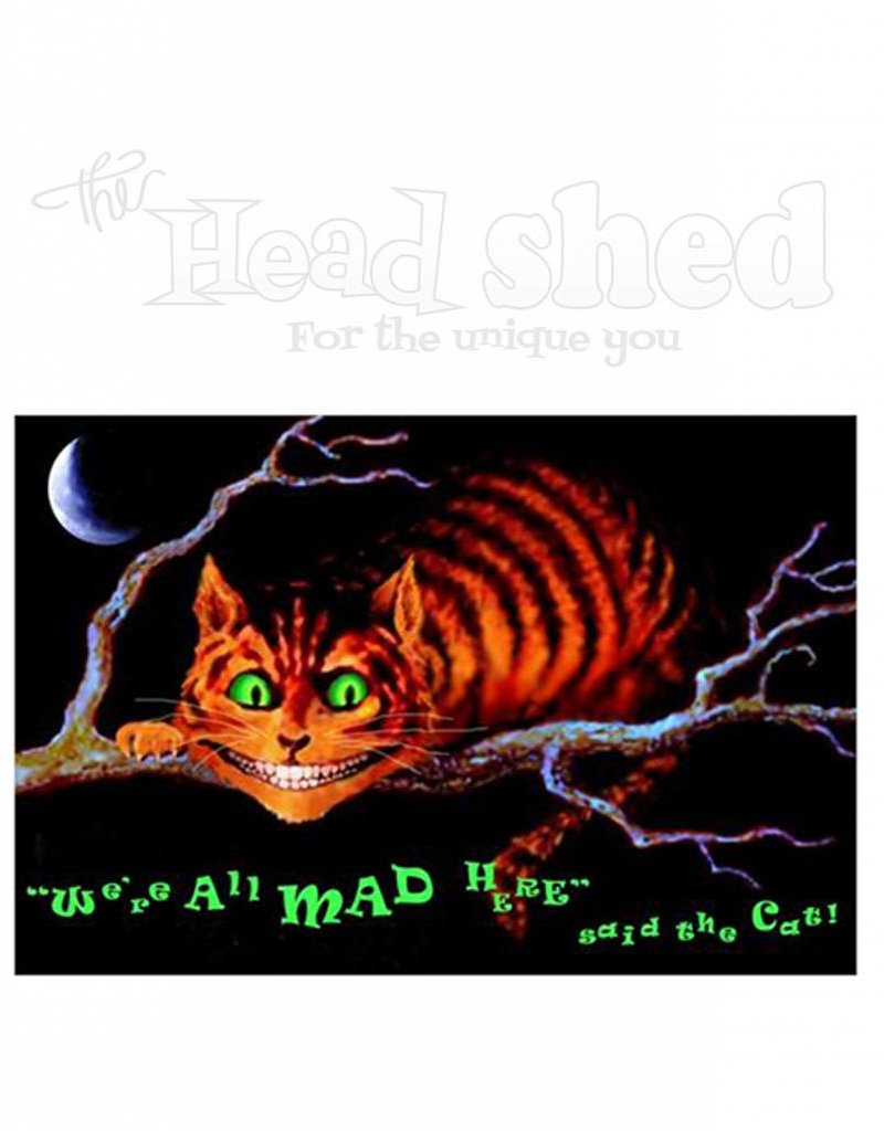 Black Light Poster - We're All Mad Here