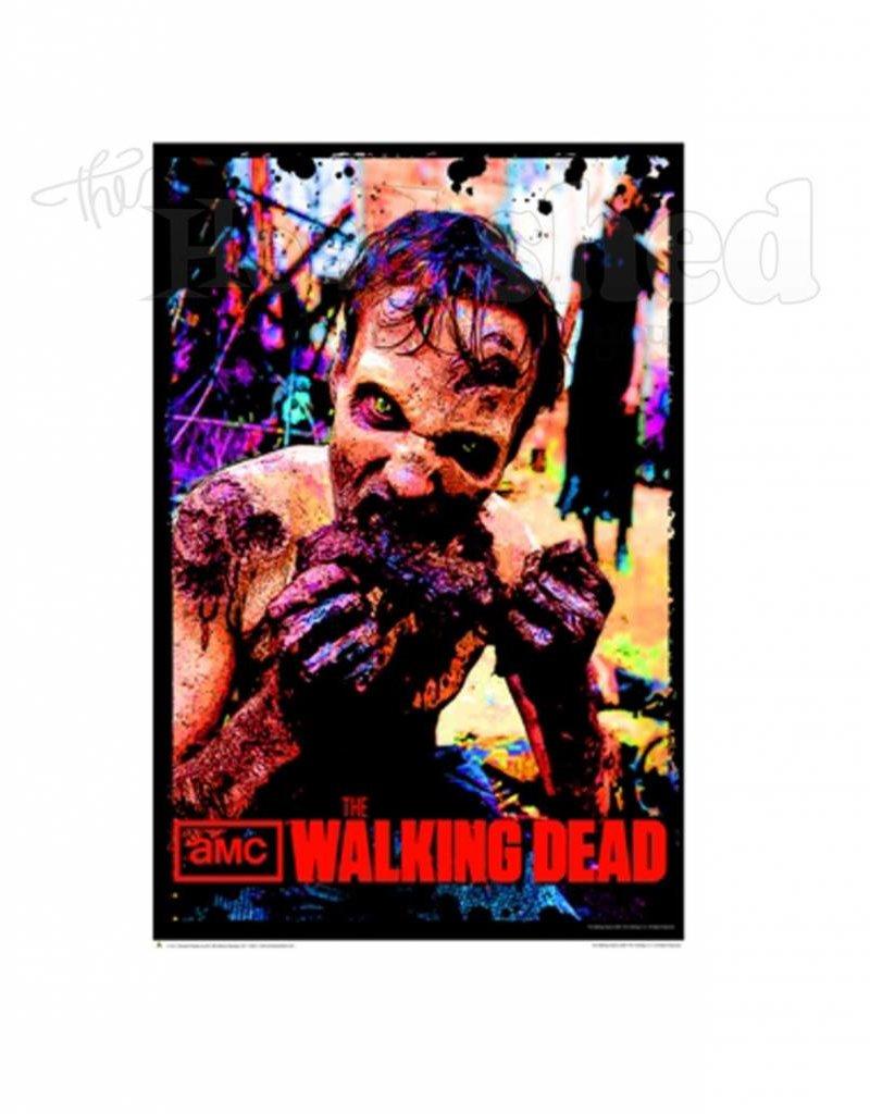 Black Light Poster - Walking Dead Zombie